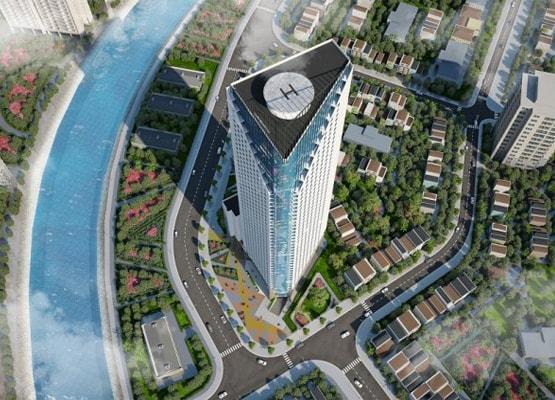 Eurowindow cung cấp cửa nhôm kính khổ lớn cho công trình tháp doanh nhân