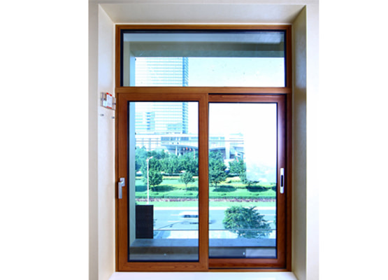 Cửa sổ mở trượt nhôm ốp gỗ